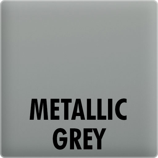 metallic grey glass